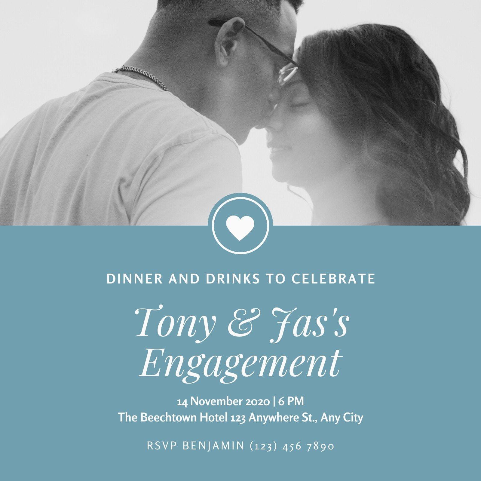 BW Engagement Party Invitation