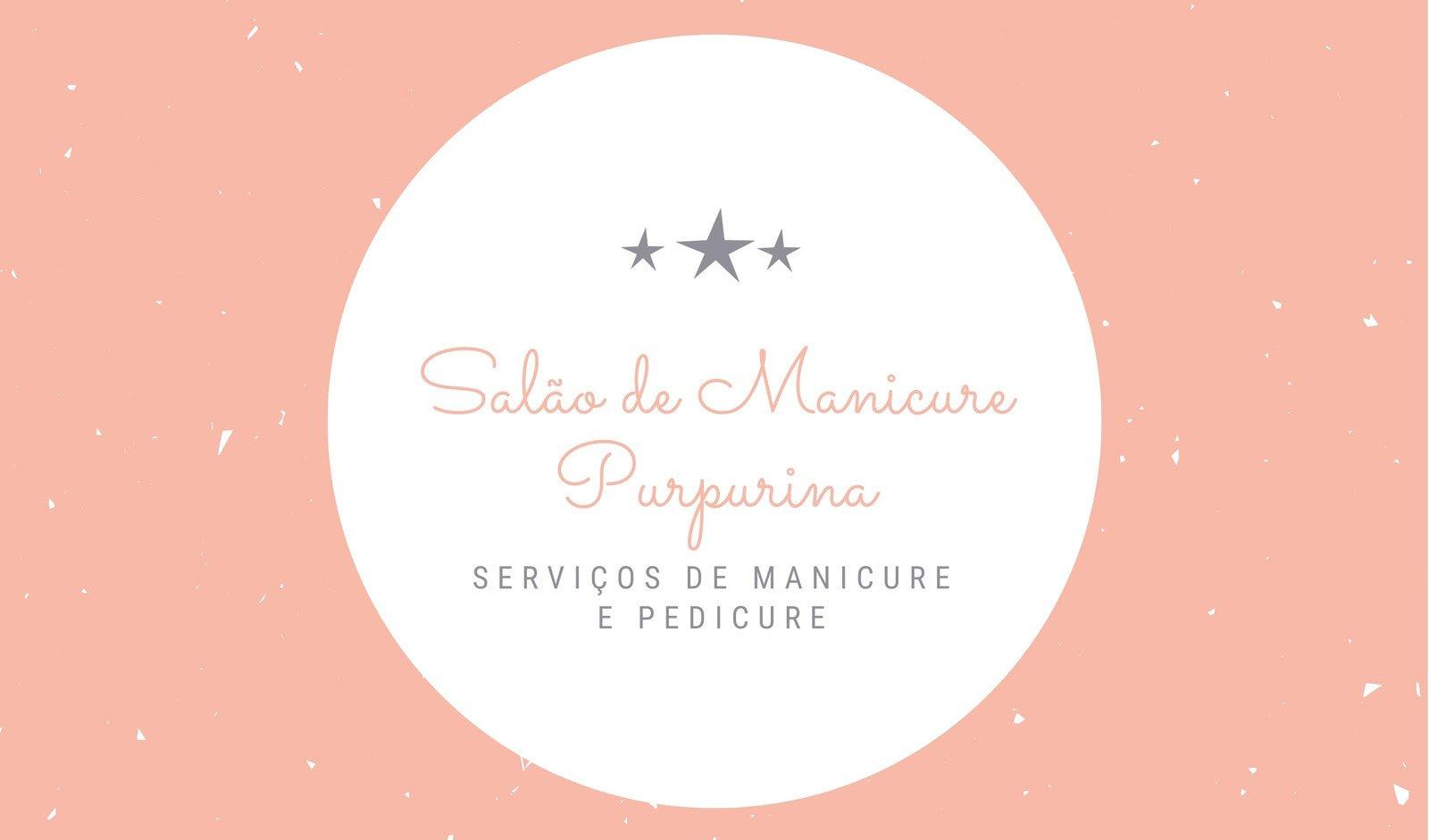 Amarelo e Rosa Estrelas  Cartão de Visita de salão de manicure