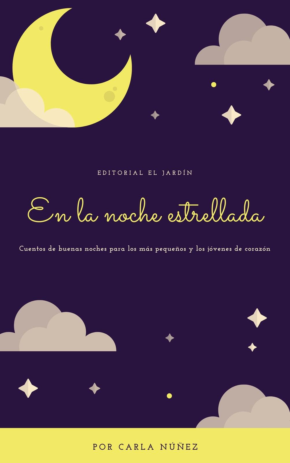 Noche Estrellada Cuaderno Portada de Libro