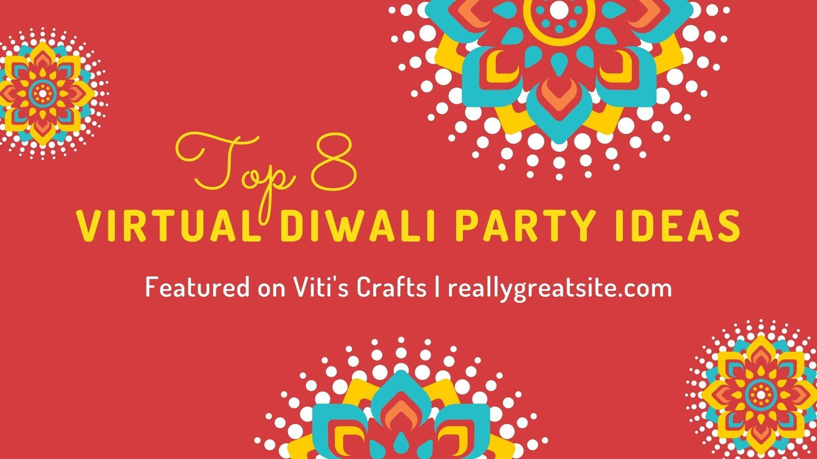 Red and Yellow Diwali Night Blog Banner