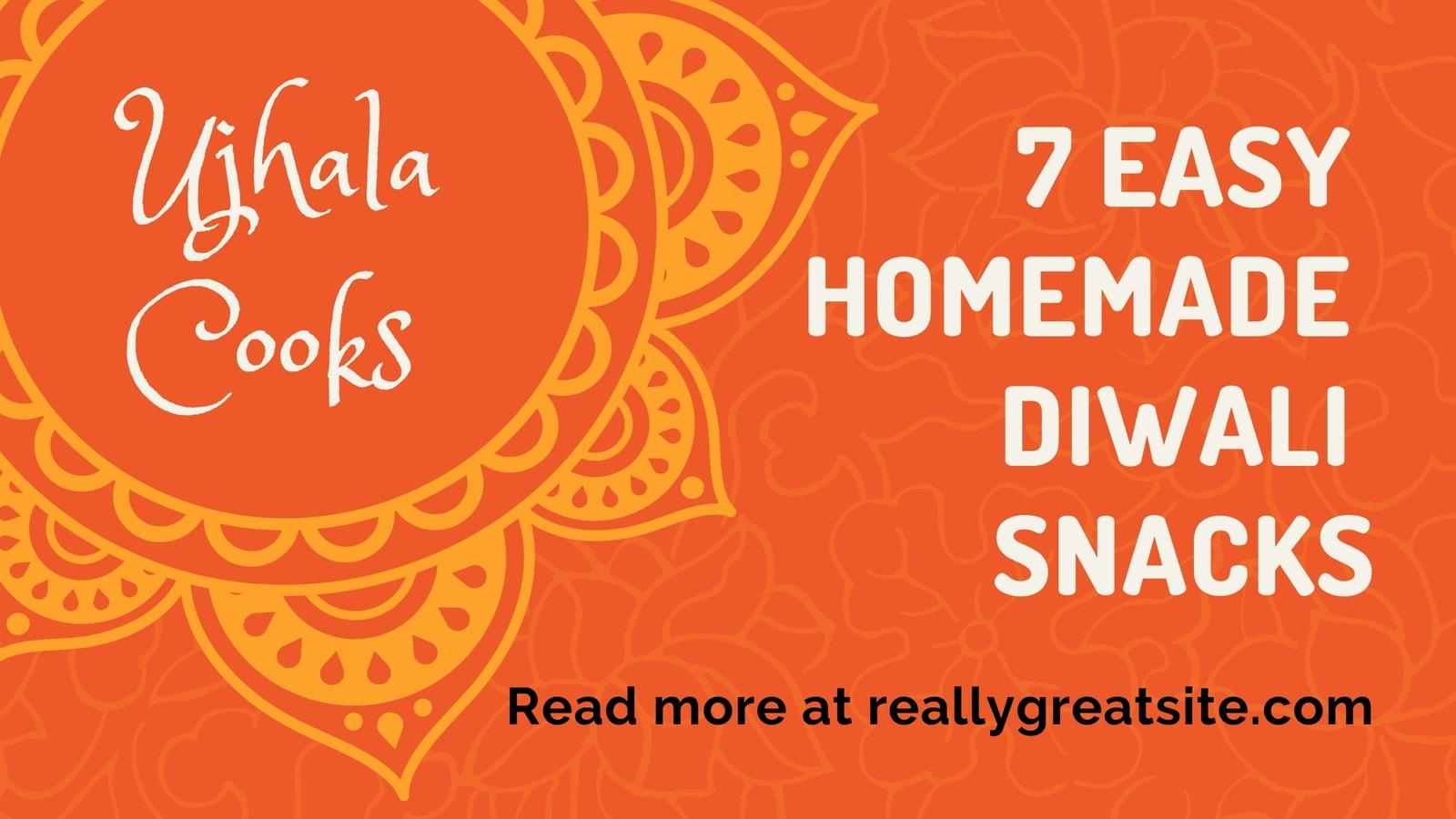 Orange Decorative Diwali Blog Banner