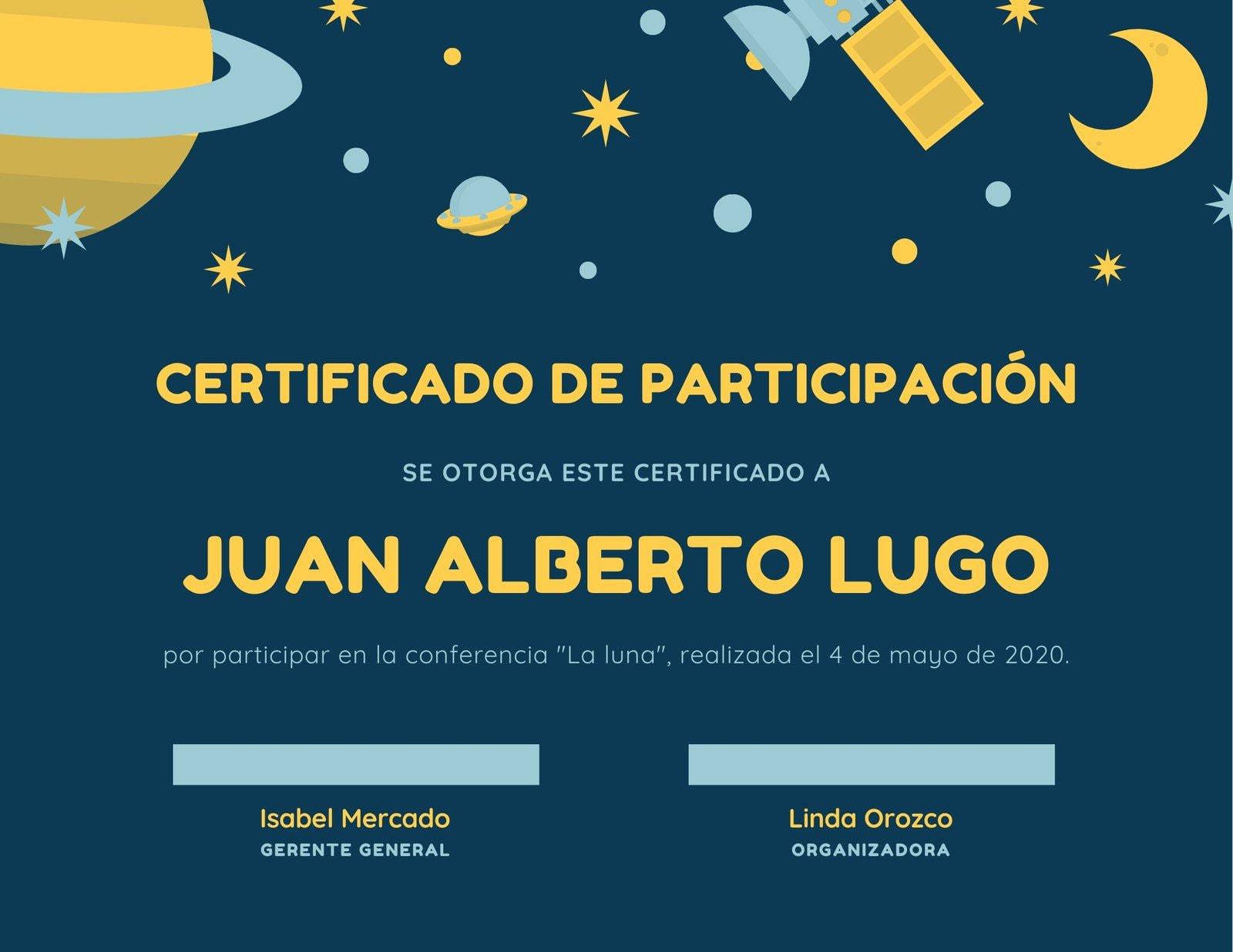 Espacio Exterior Divertido Certificado