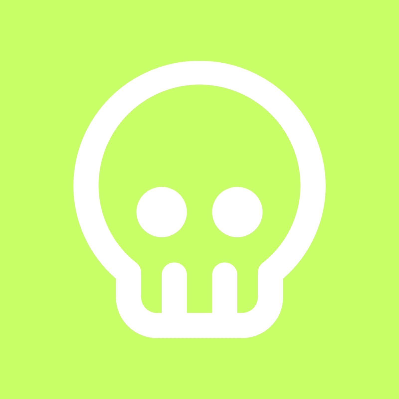 Green Skull Modern Action Twitch Profile Picture