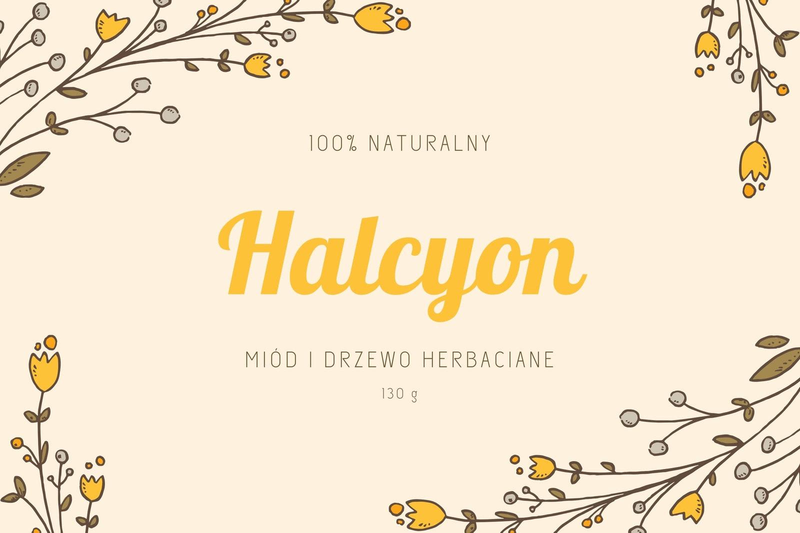 Żółta Kwiat i Liście Mydło Etykieta Produktu