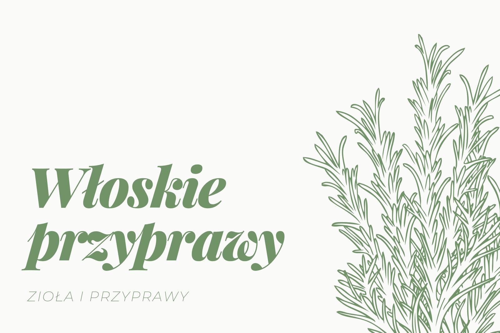 Zielona Ilustrowana Zioła Kuchnia Etykieta