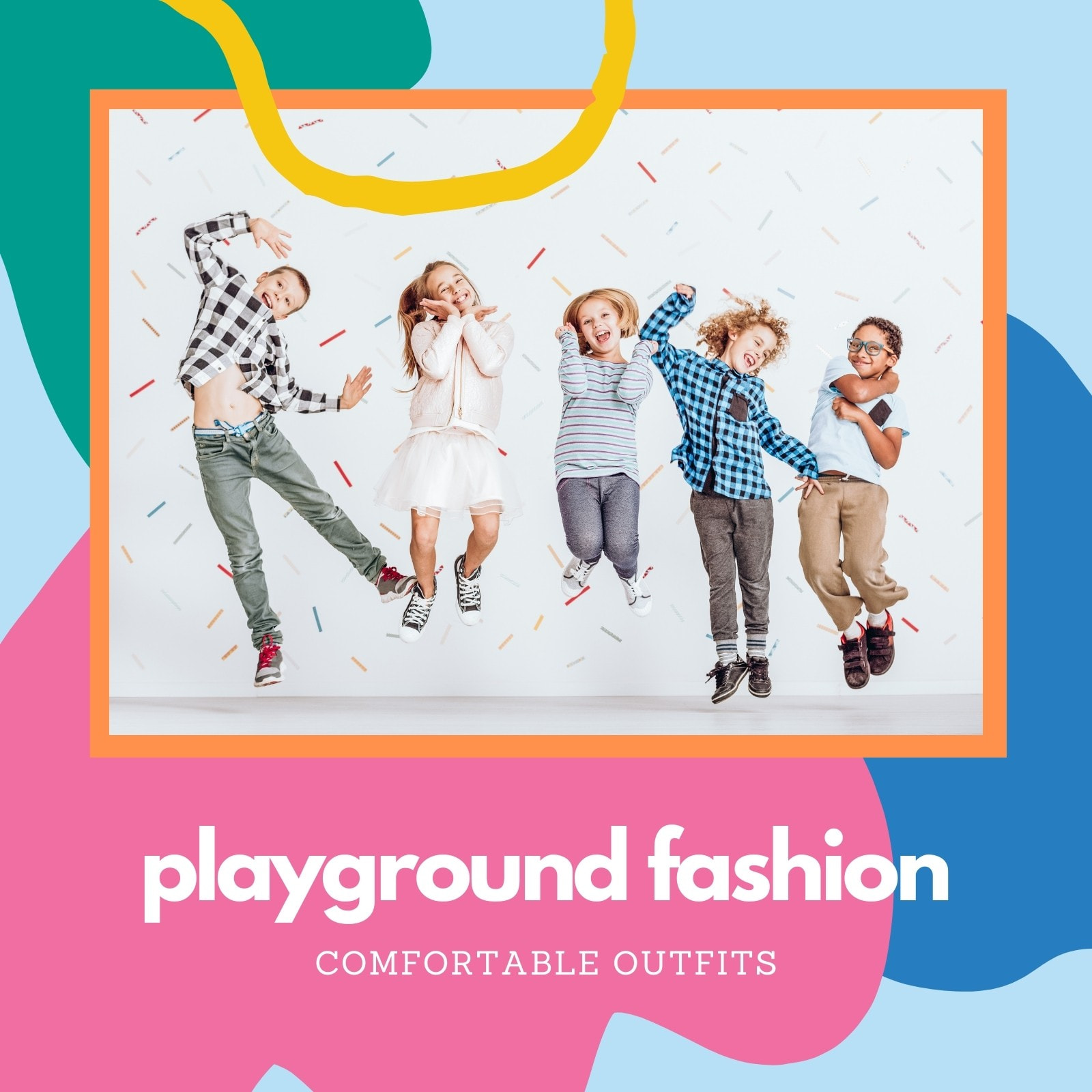Colorful Abstract Kids Fashion Video Collage