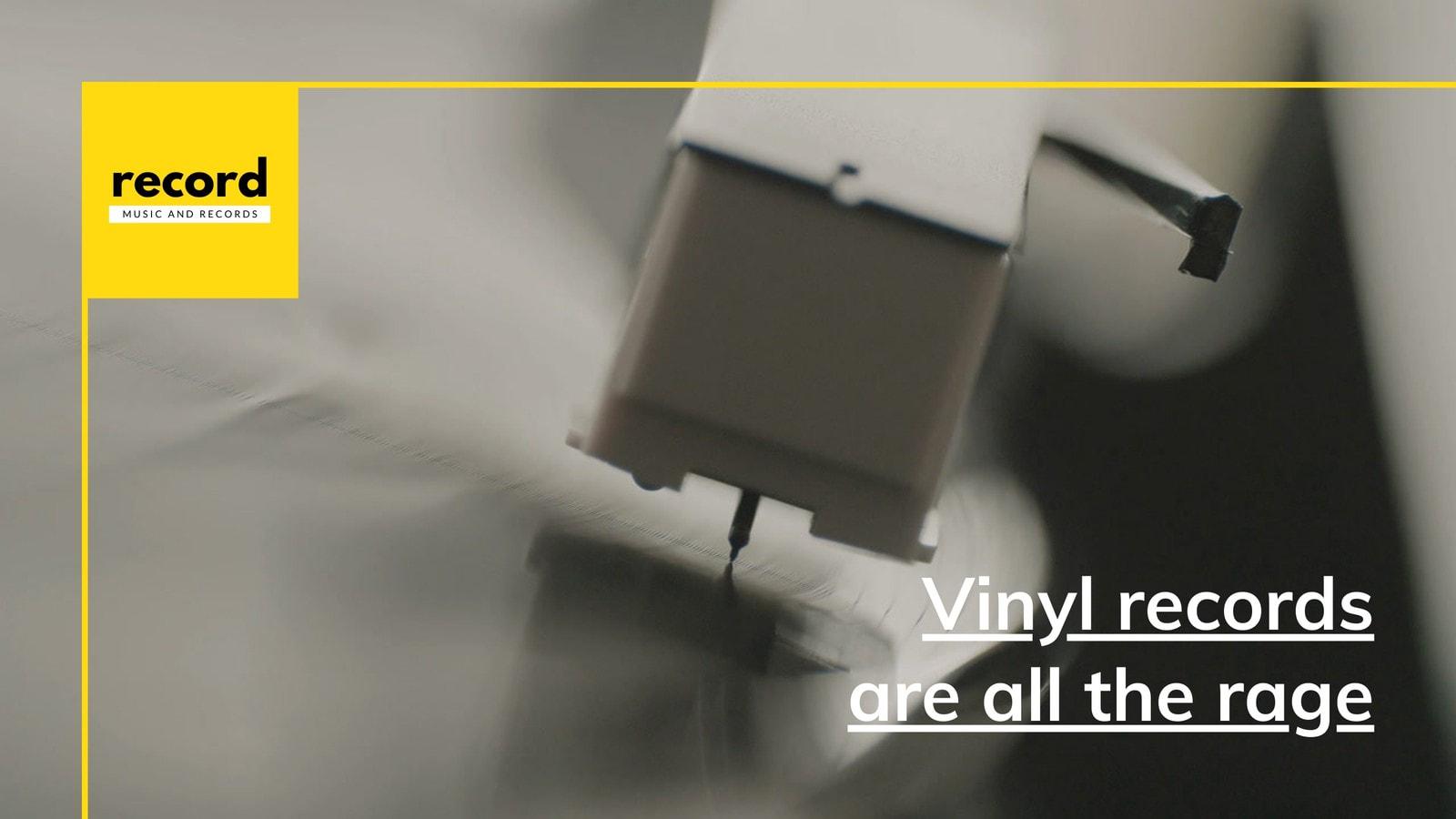 Yellow Minimalist Online Music Streaming YouTube Video Ad