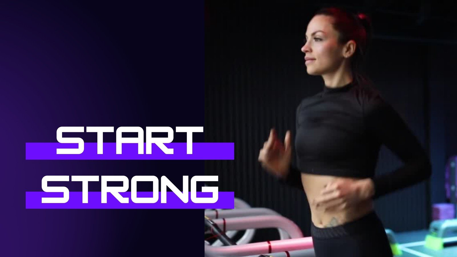 Black and Violet Fitness Gym Soft Gradients YouTube Video Ad