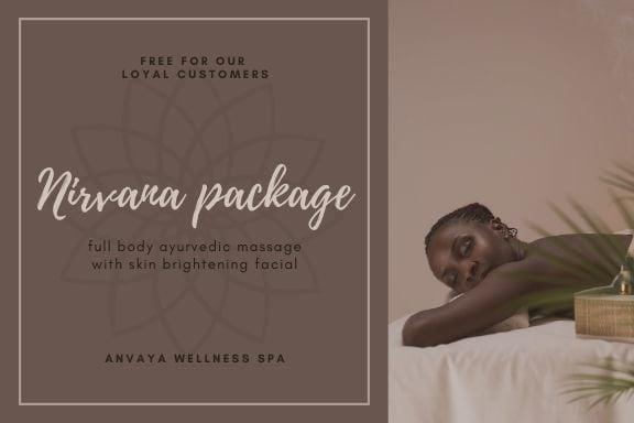 Print Gift Certificate - Brown Modern Massage