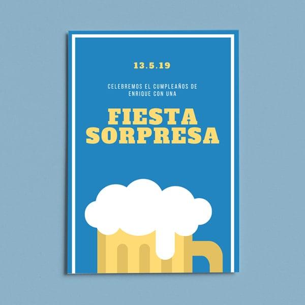 Fiesta Sorpresa - Yellow Orange Beer 21st Birthday Poster