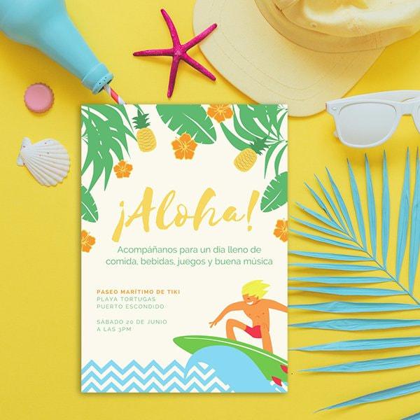 Fiesta - Hawaiian Beach Party Invitation