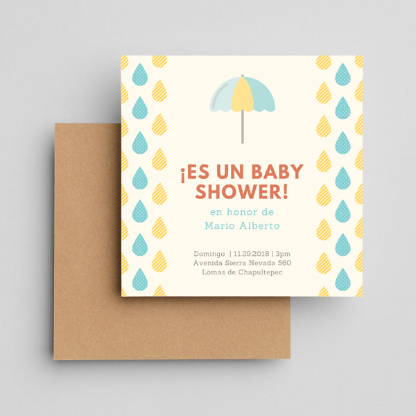 Baby-Showers-Blue-and-Yellow-Raindrops-Illustration