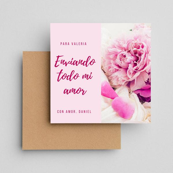 Aniversario - Intimate Floral Greeting Card