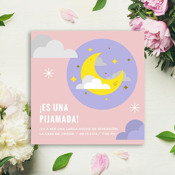Fiestas Infantiles - SLUMBER PARTY INVITE