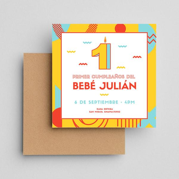 Cumpleanos-Yellow-Playful-1st-Birthday-Invitation