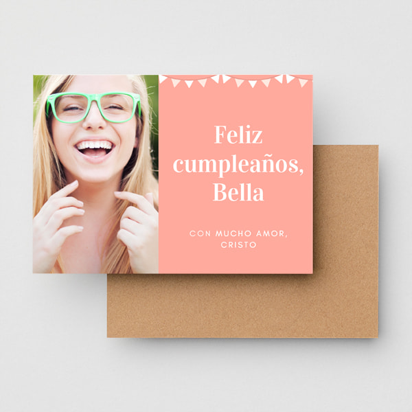 Cumpleanos-Peach-Sidebar-Photo-Simple-Birthday-Card