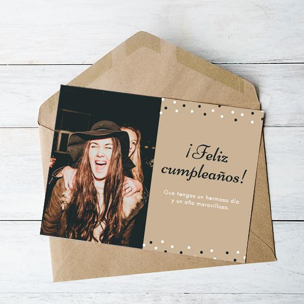Cumpleanos-Tan-Dots-with-Photo-Birthday-Card