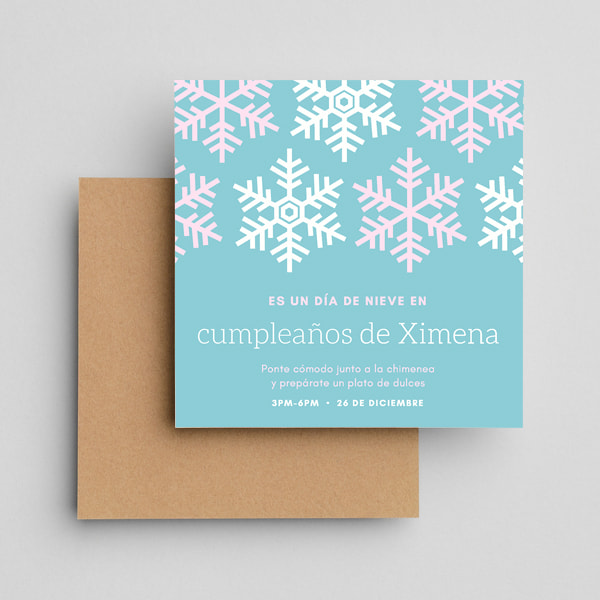 Cumpleanos-Blue-Snowflake-Birthday-Invitation