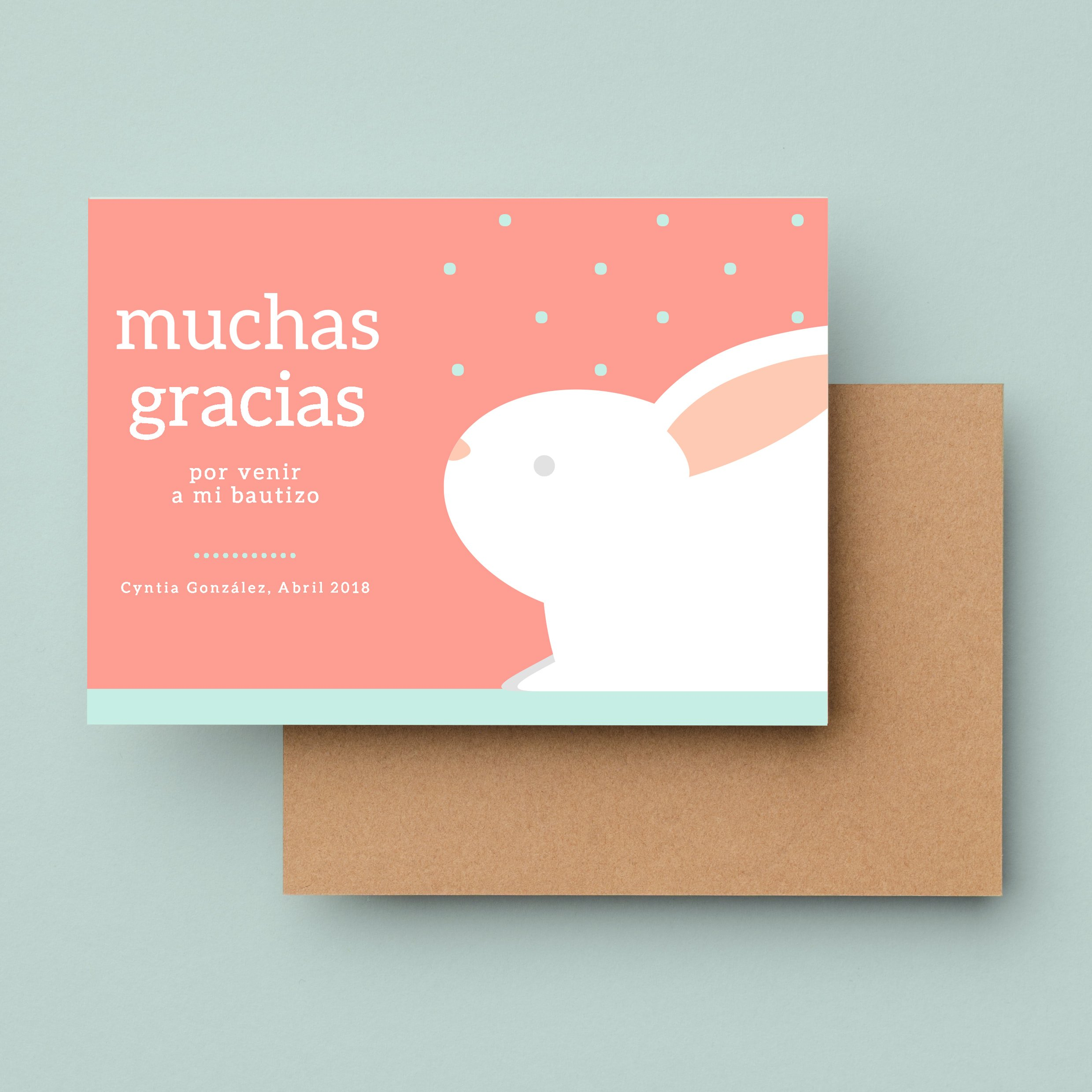 Bautizo-Pink-Bunny-Polka-Dots-Christening-Baby-Thank-You-Card