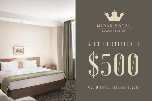 Print Gift Certificate - Luxury Hotel