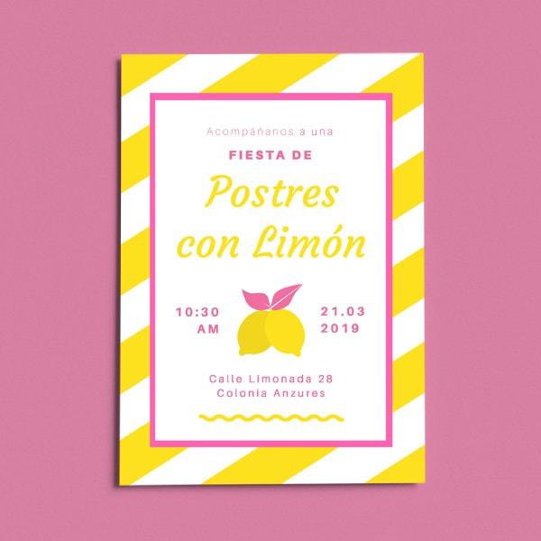Dulces - Bright Yellow Dessert Party Ideas Invitation (Portrait)