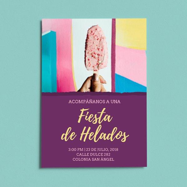 Dulces - Ice Cream Party Invitation2
