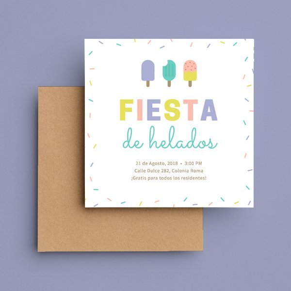 Dulces - Sprinkles and Popsicles Invitation