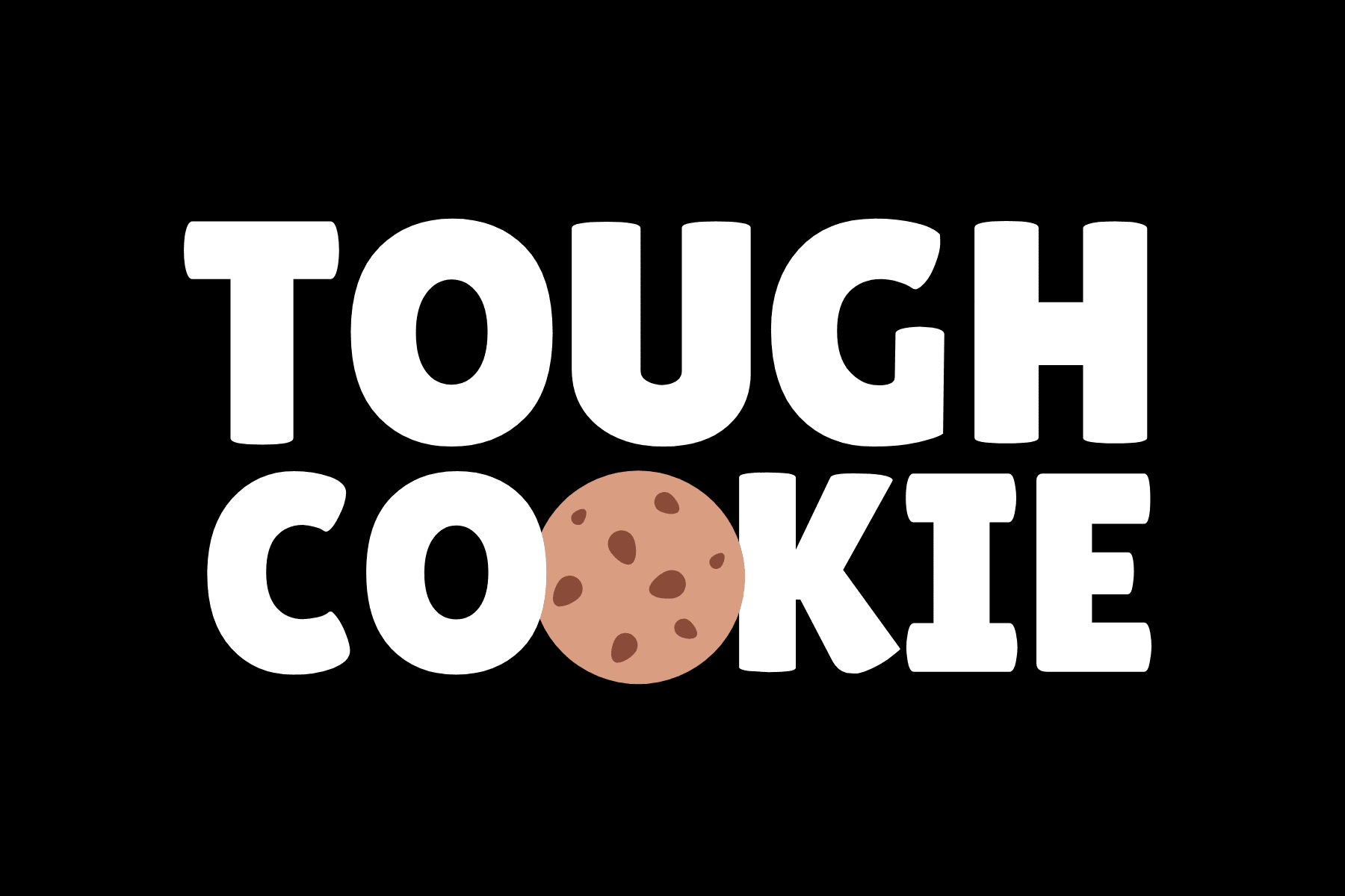 Print rectangle stickers - Black and White Tough Cookie Cool Hype Landscape Rectangle Laptop