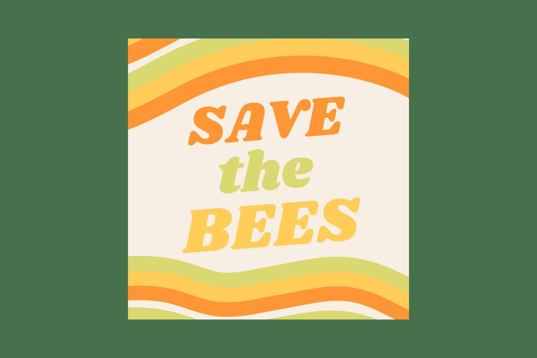 Print square stickers - Nostalgic Save the Bees Square Laptop Sticker