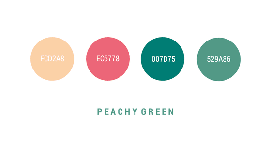 Peachy Green harmonizes feminine and masculine tones for a soothing balance of warmth and freshness.