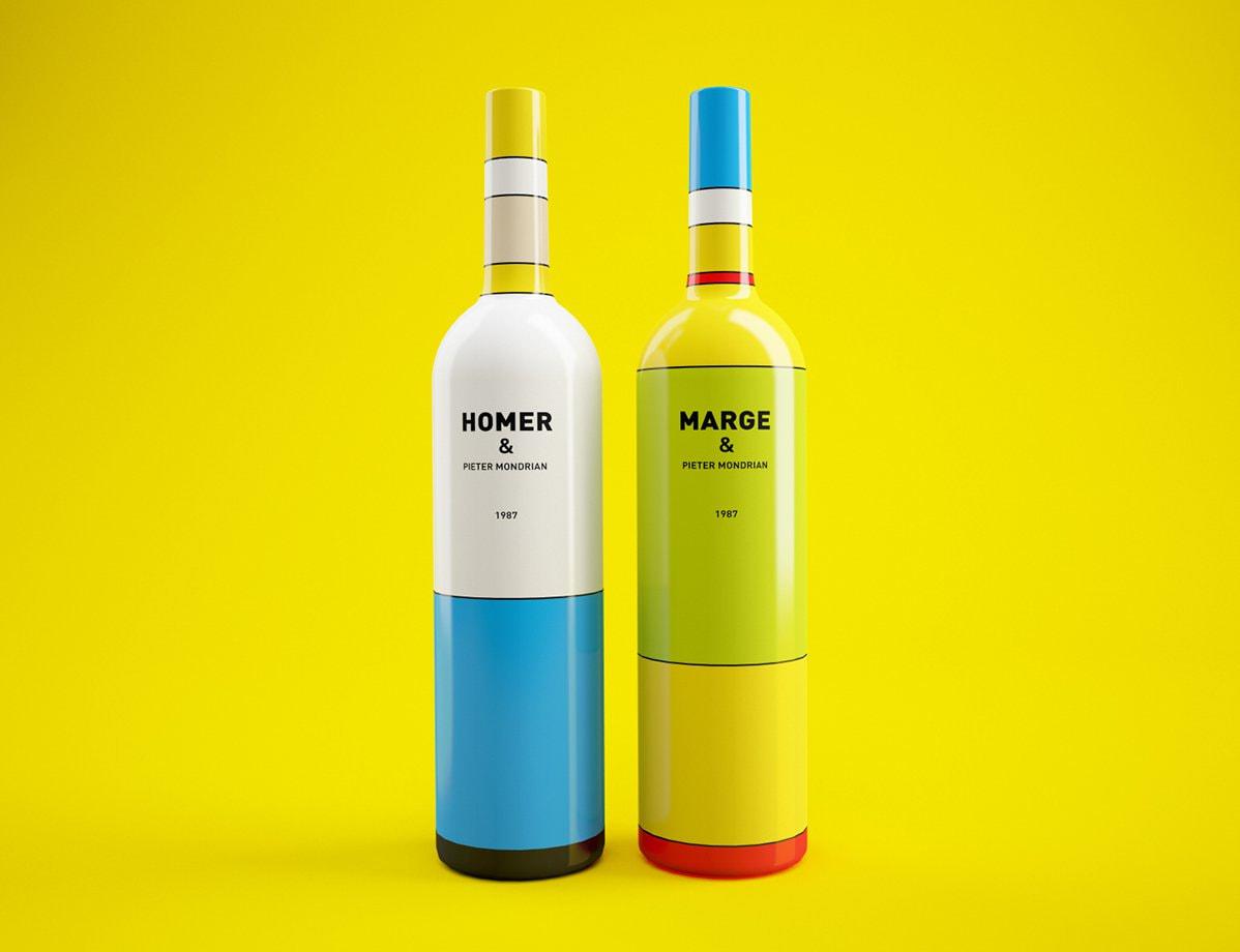 4. Simpson Mondrian bottle