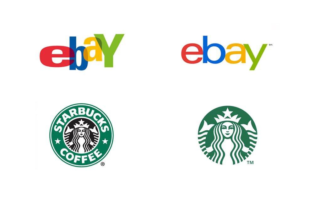 15. Ebay and Starbucks logos