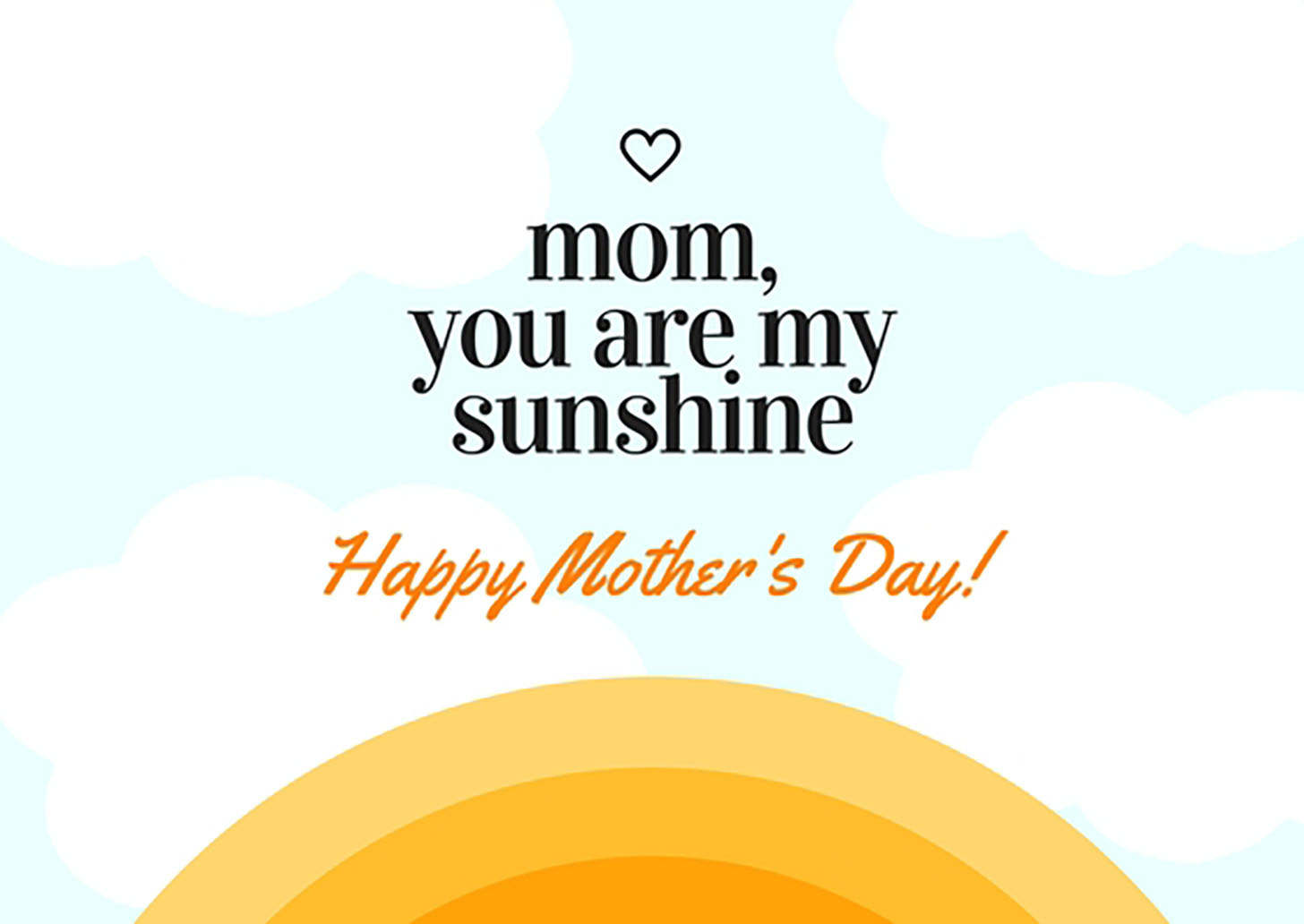 Sunshine Mother's Day Card