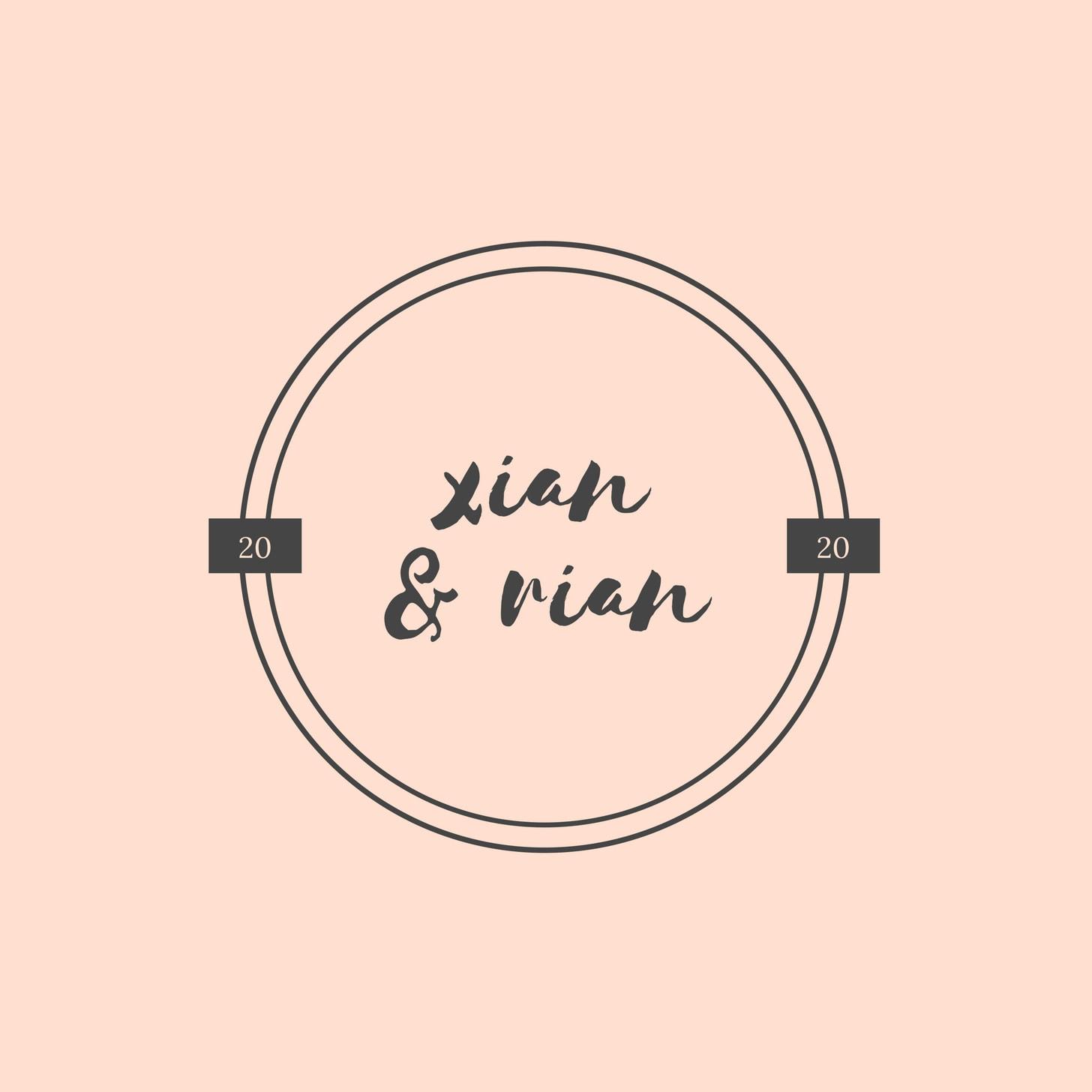 Peach Circle Wedding Logo
