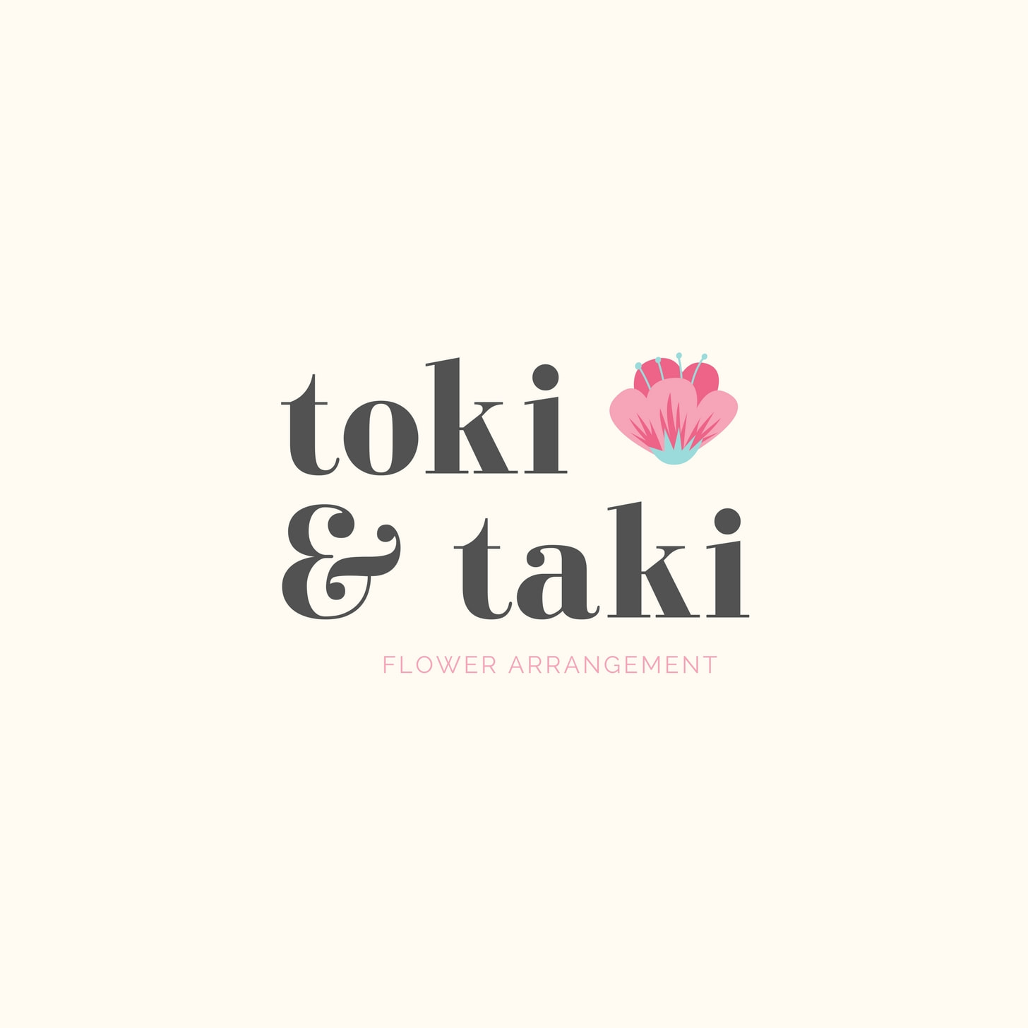 Snow Pink Flower Floral Logo
