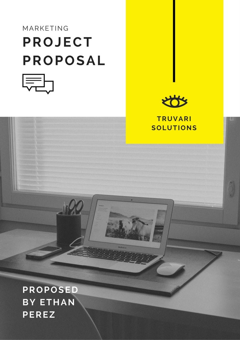 Yellow Simple Marketing Proposal