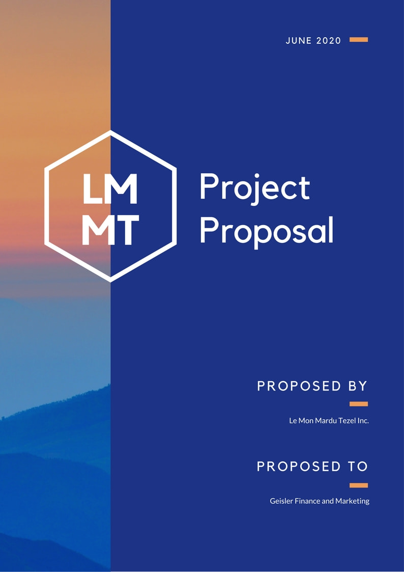 Blue Orange Photo Project General Proposal