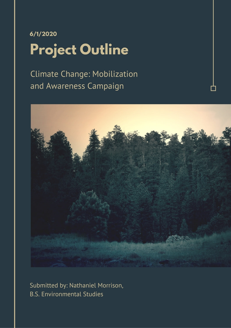 Green Modern Lines Project Outline Report Document