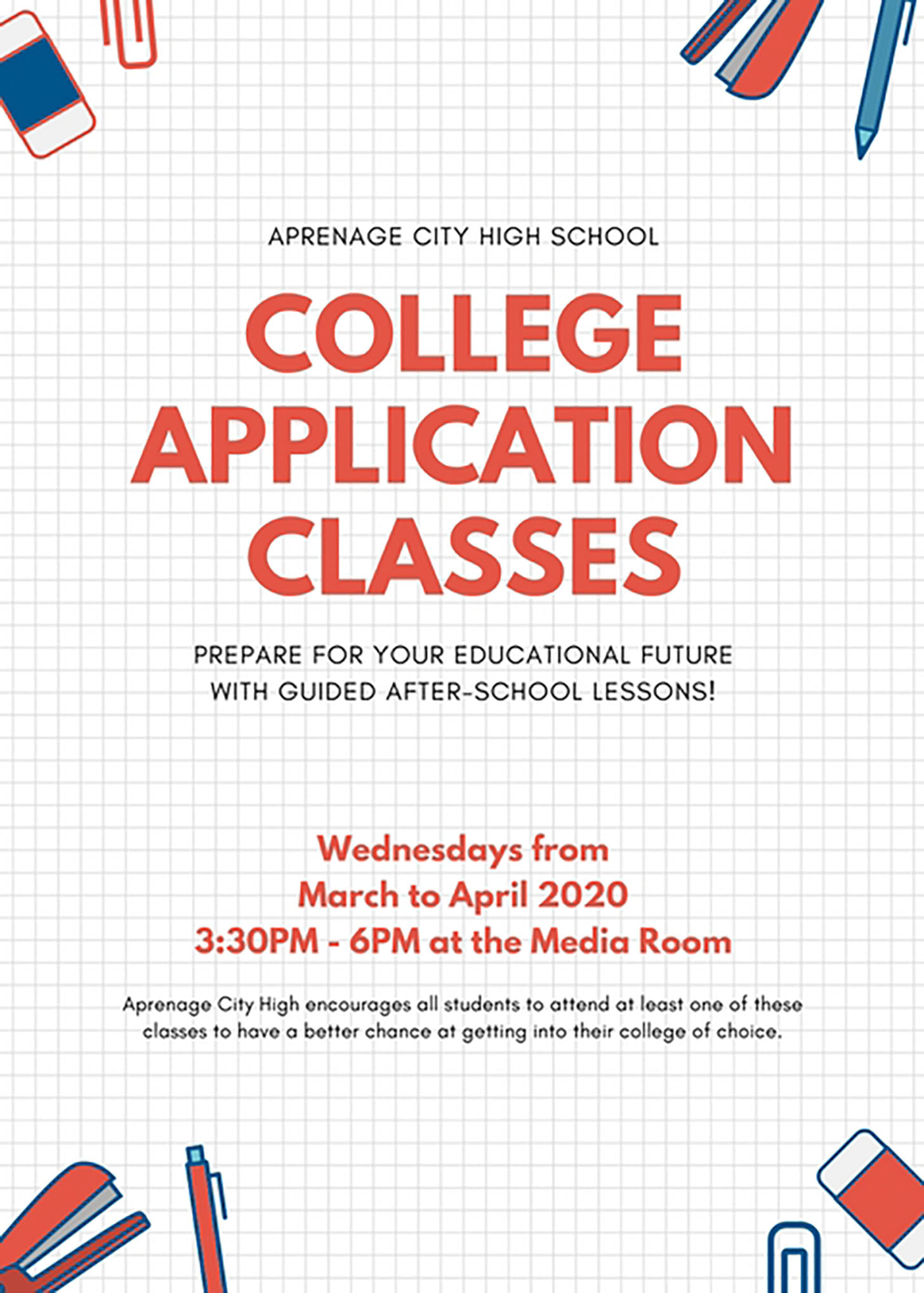 Red Grid Class Flyer