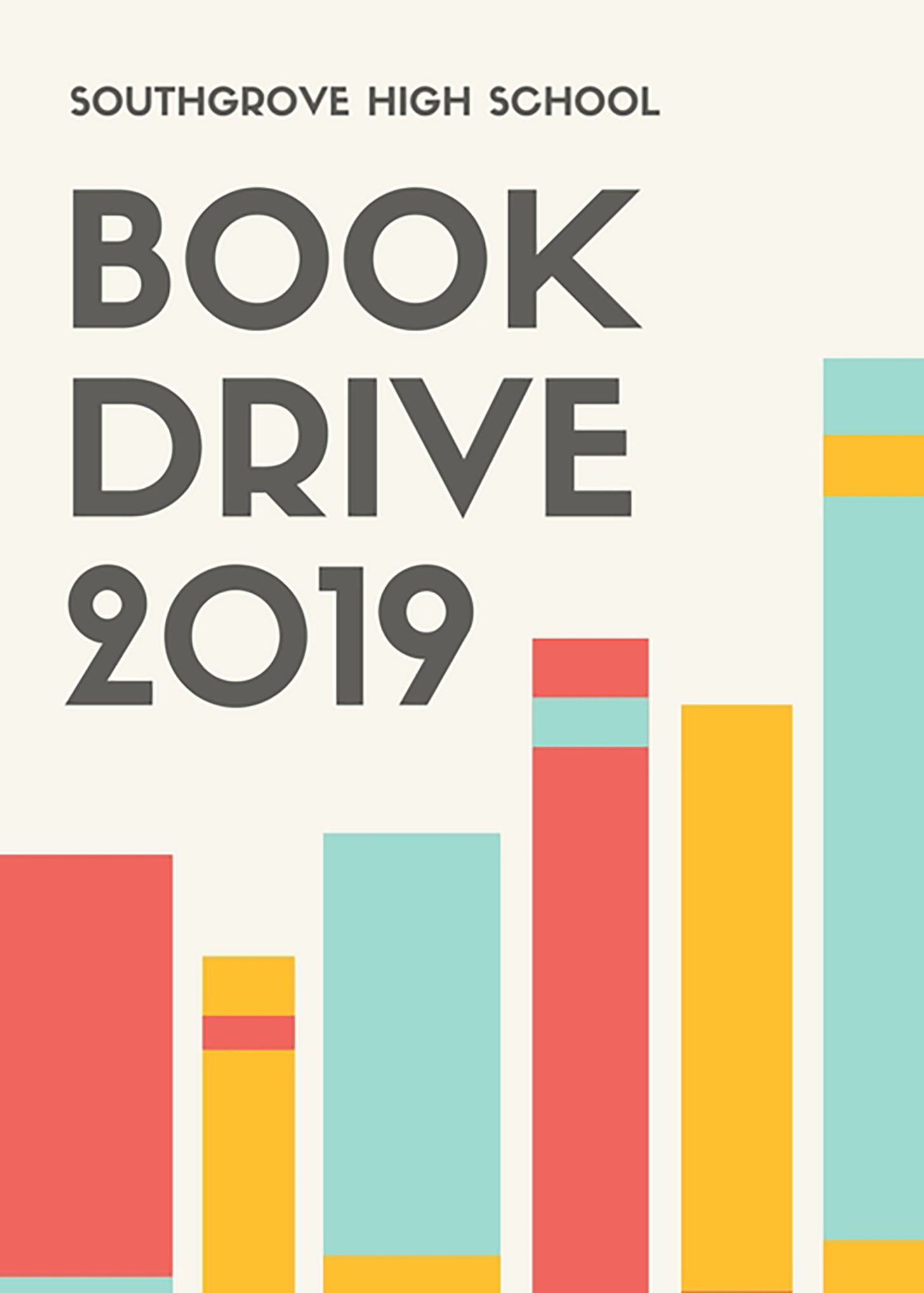 Red Yellow Blue Book Drive Fundraising Flyer
