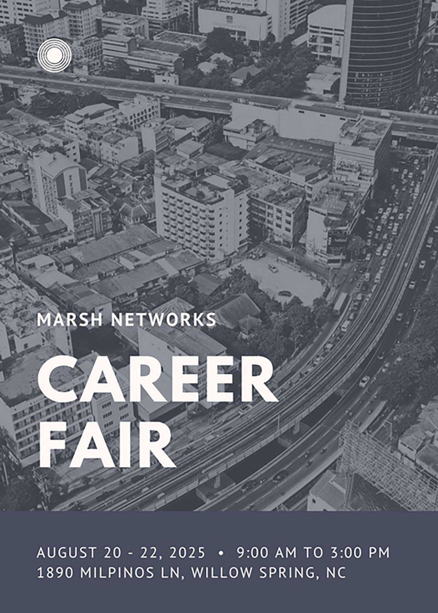 Modern City Photo Job Fair Flyer
