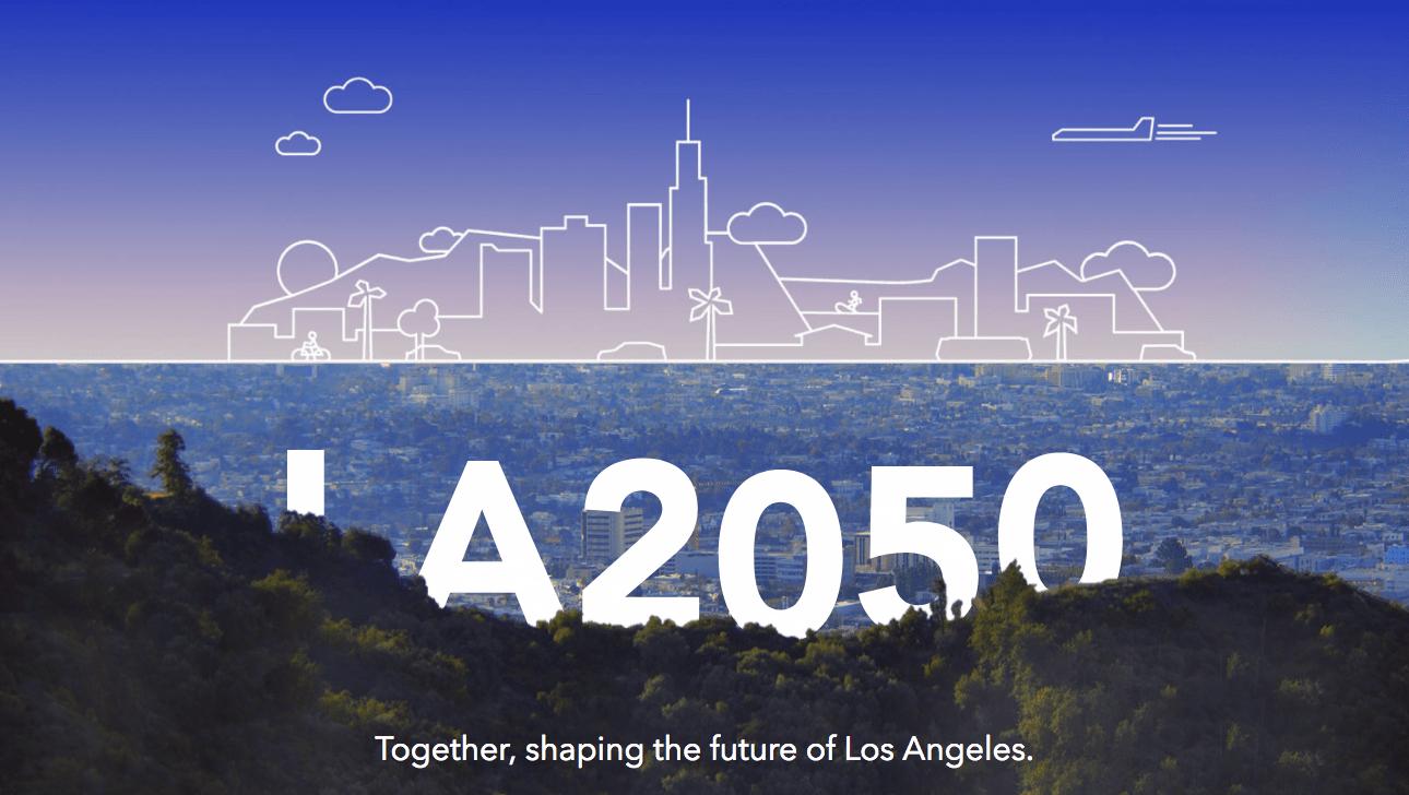 LA2050 website homepage