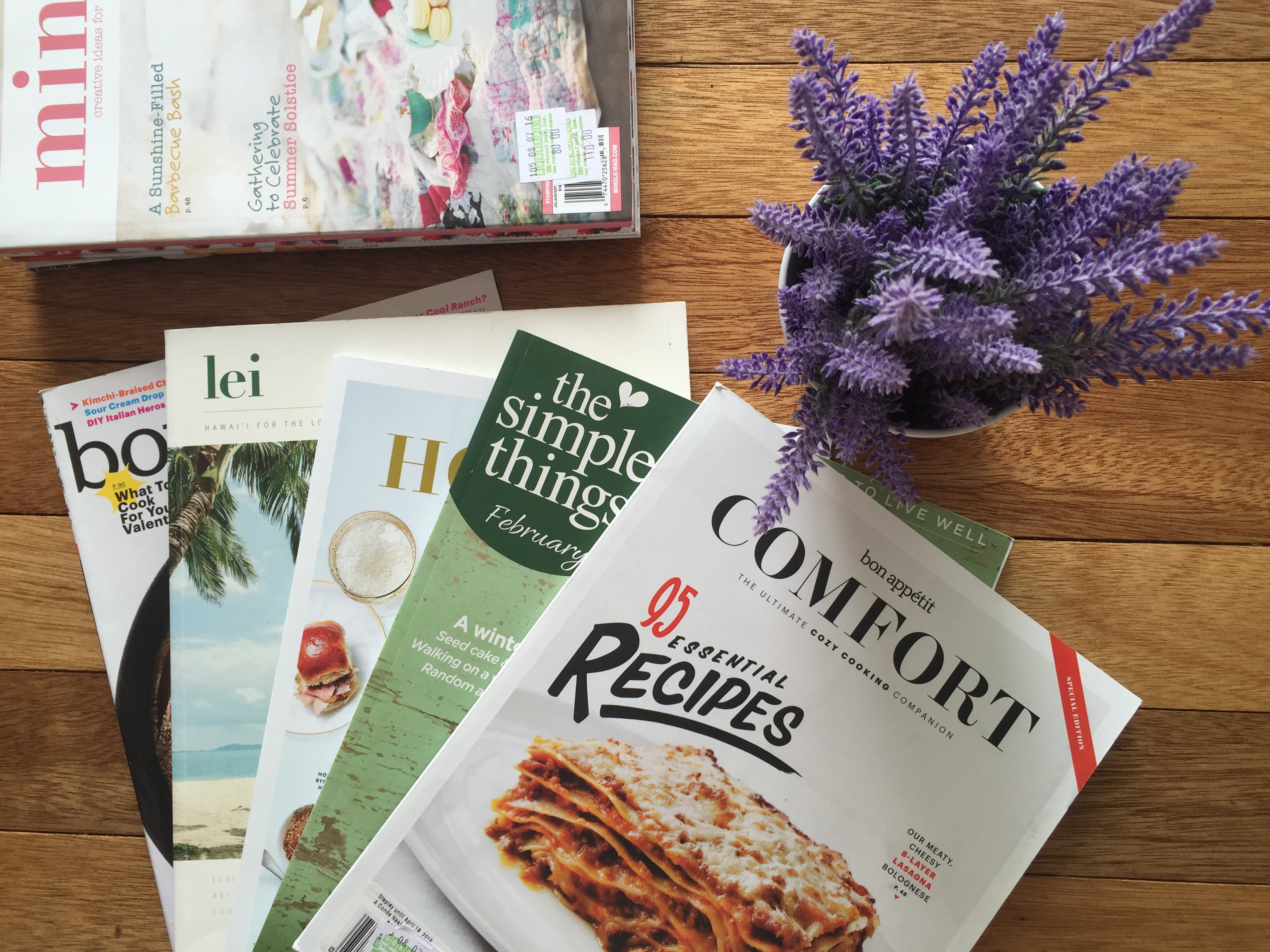 Find inspiration in magazines