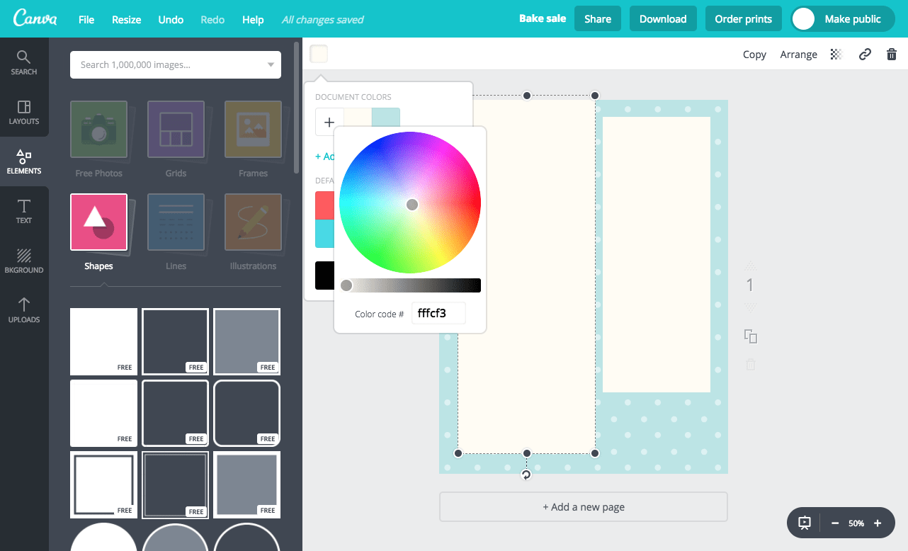 Canva elements and shapes