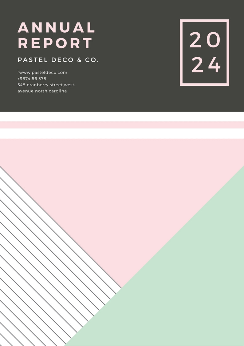 Pastel Geometric Annual Report