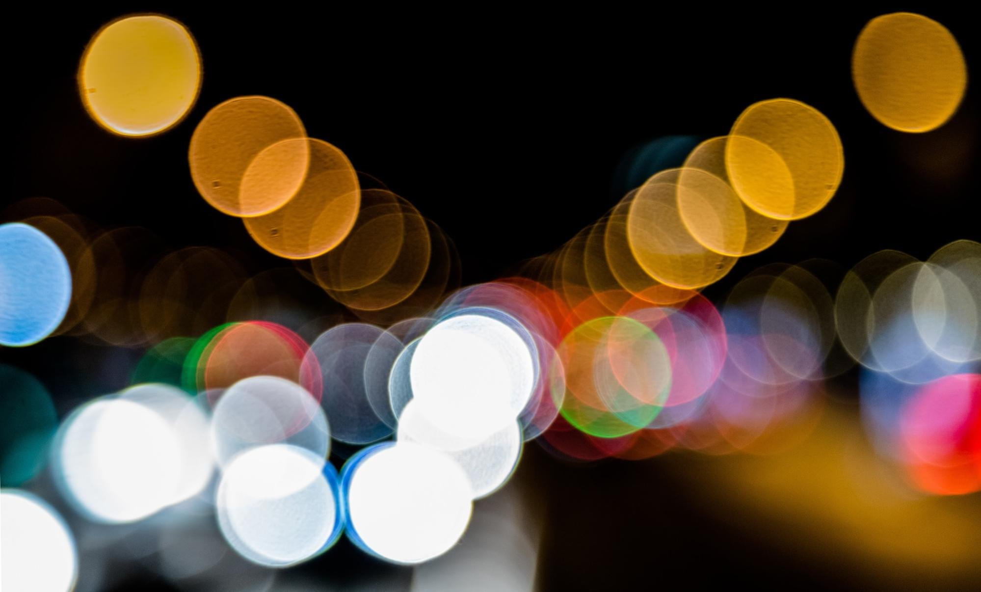 Manual focus bokeh lights
