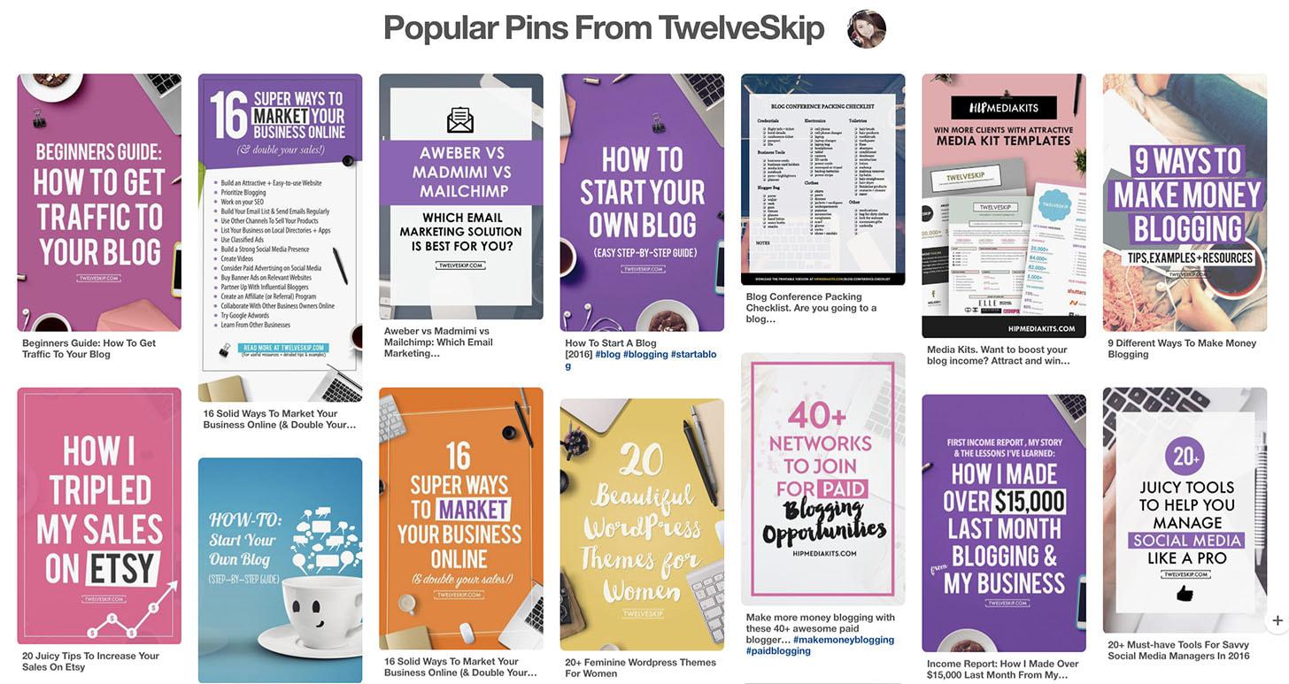 Twelveskip Pinterest