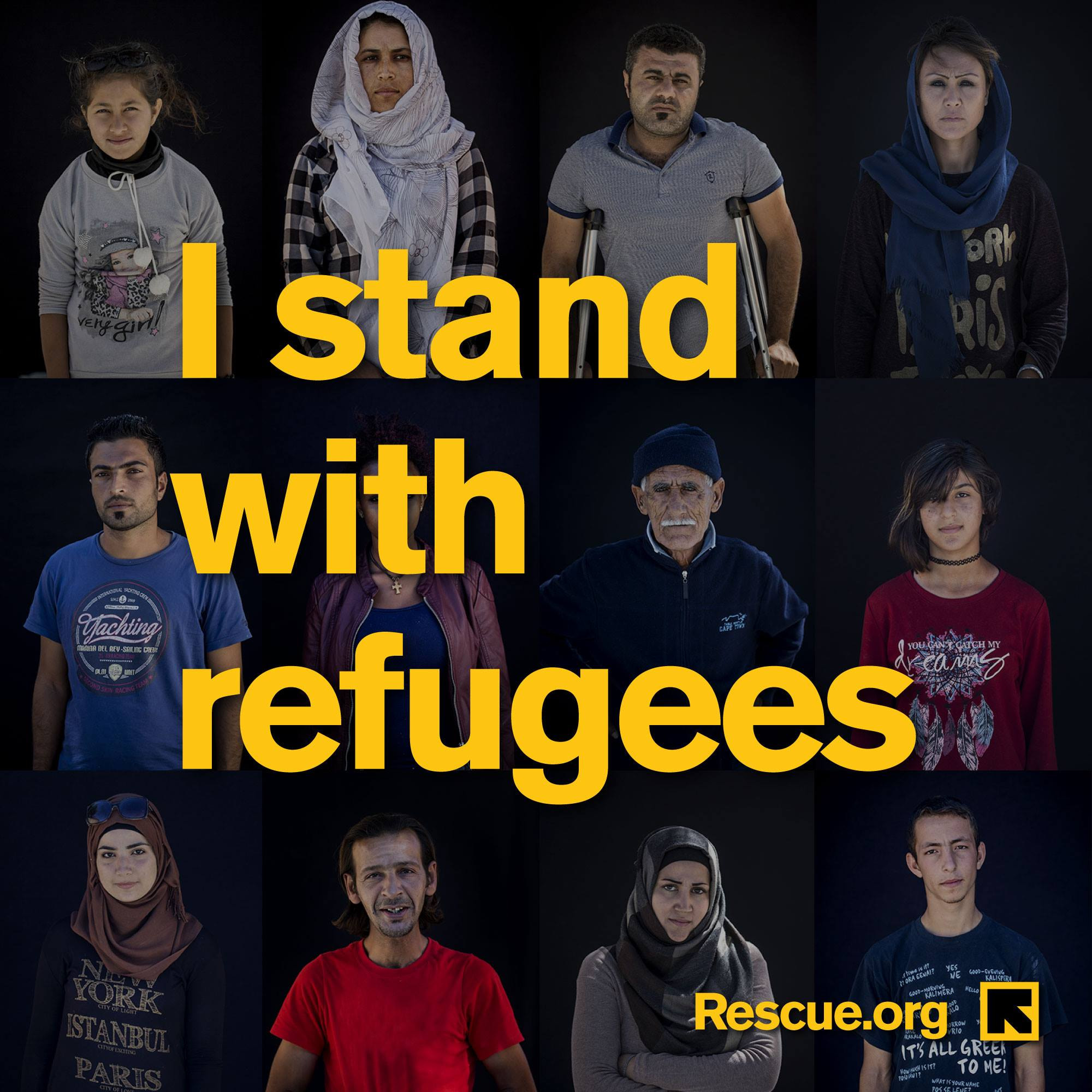 Stand with Refugees FB post