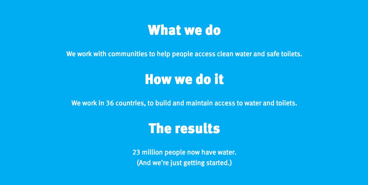 WaterAid's homepage
