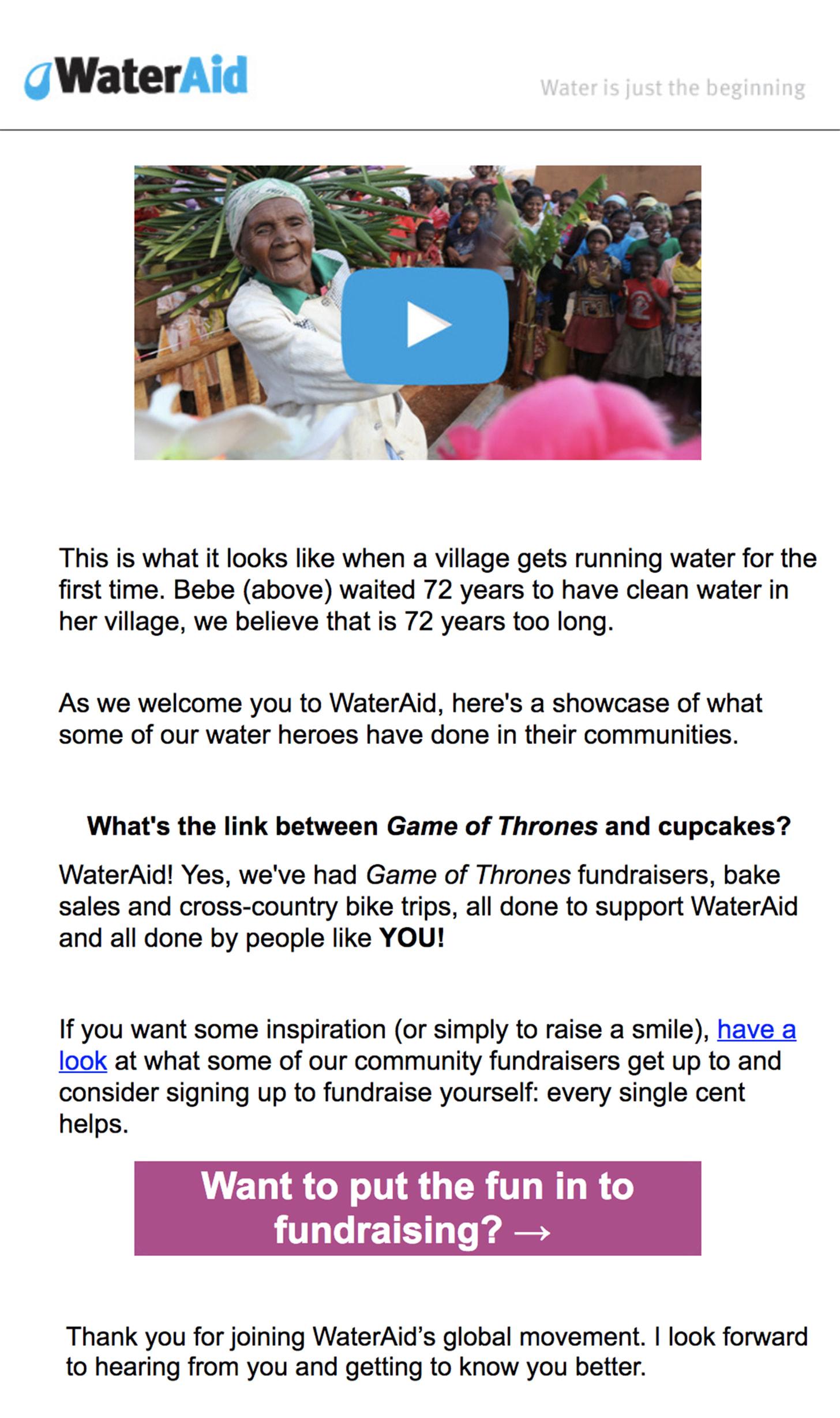 WaterAid email